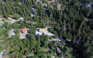 Aerial view of house for sale in Ithaca Greece Lefki