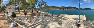 Pano photo of view from Lazareto