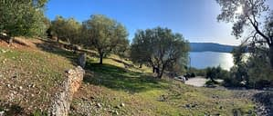 Landscape and terrain of land for sale in Ithaca Greece, Ag Ioannis