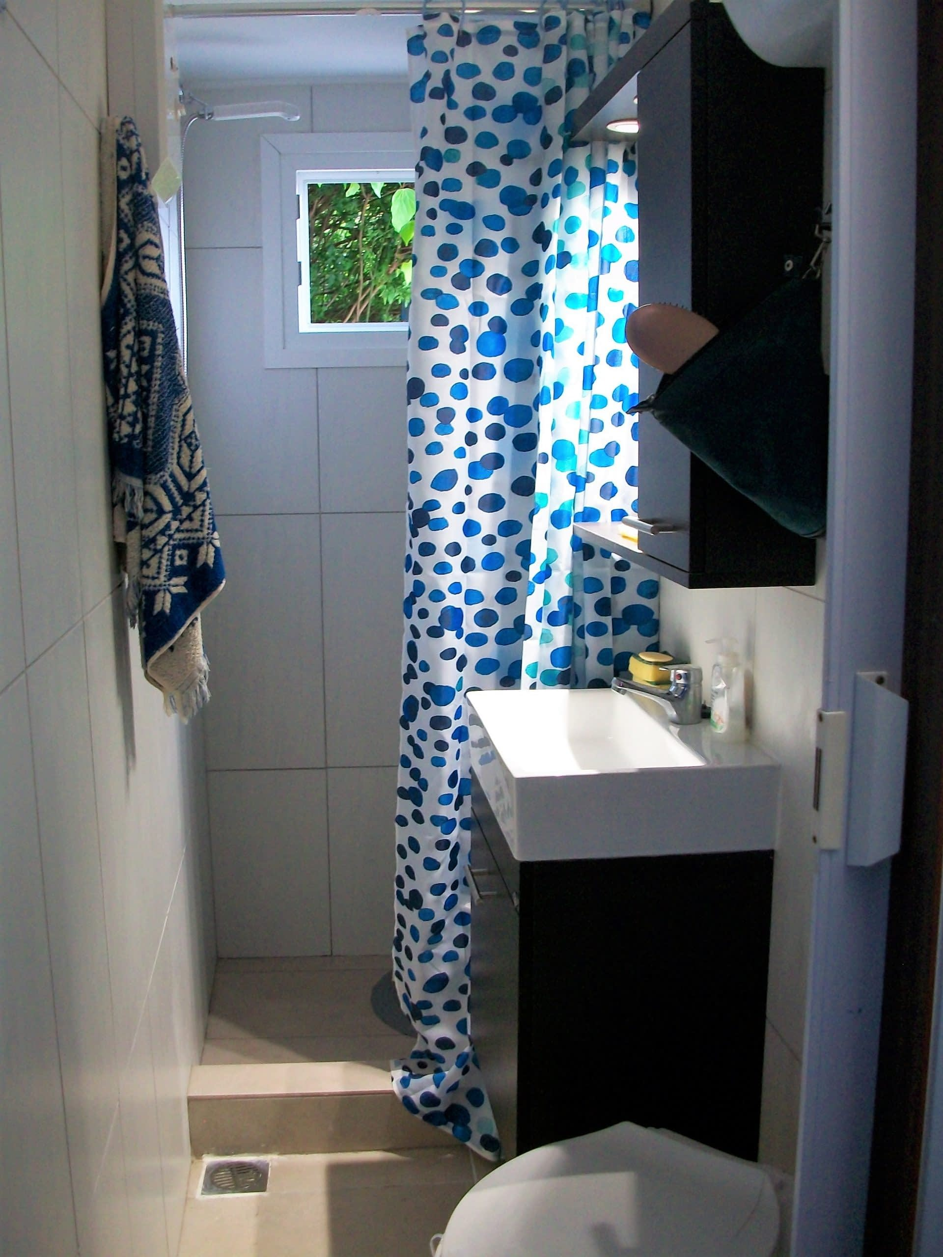 Interior bathroom of house for rent in Polis Bay Ithaca Greece