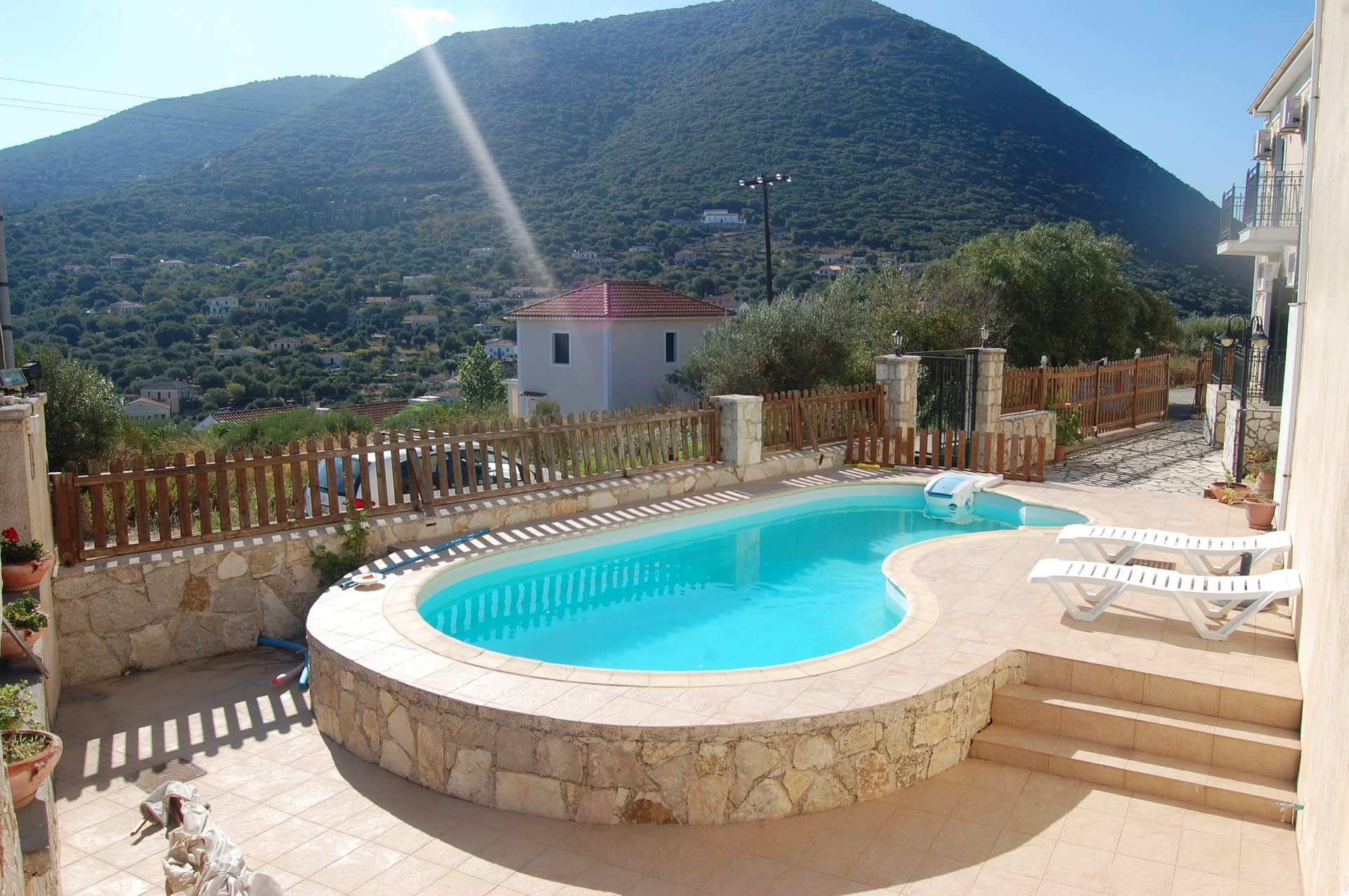 swimming pool of Iriana Village for rent in Ithaca Greece, Stavros