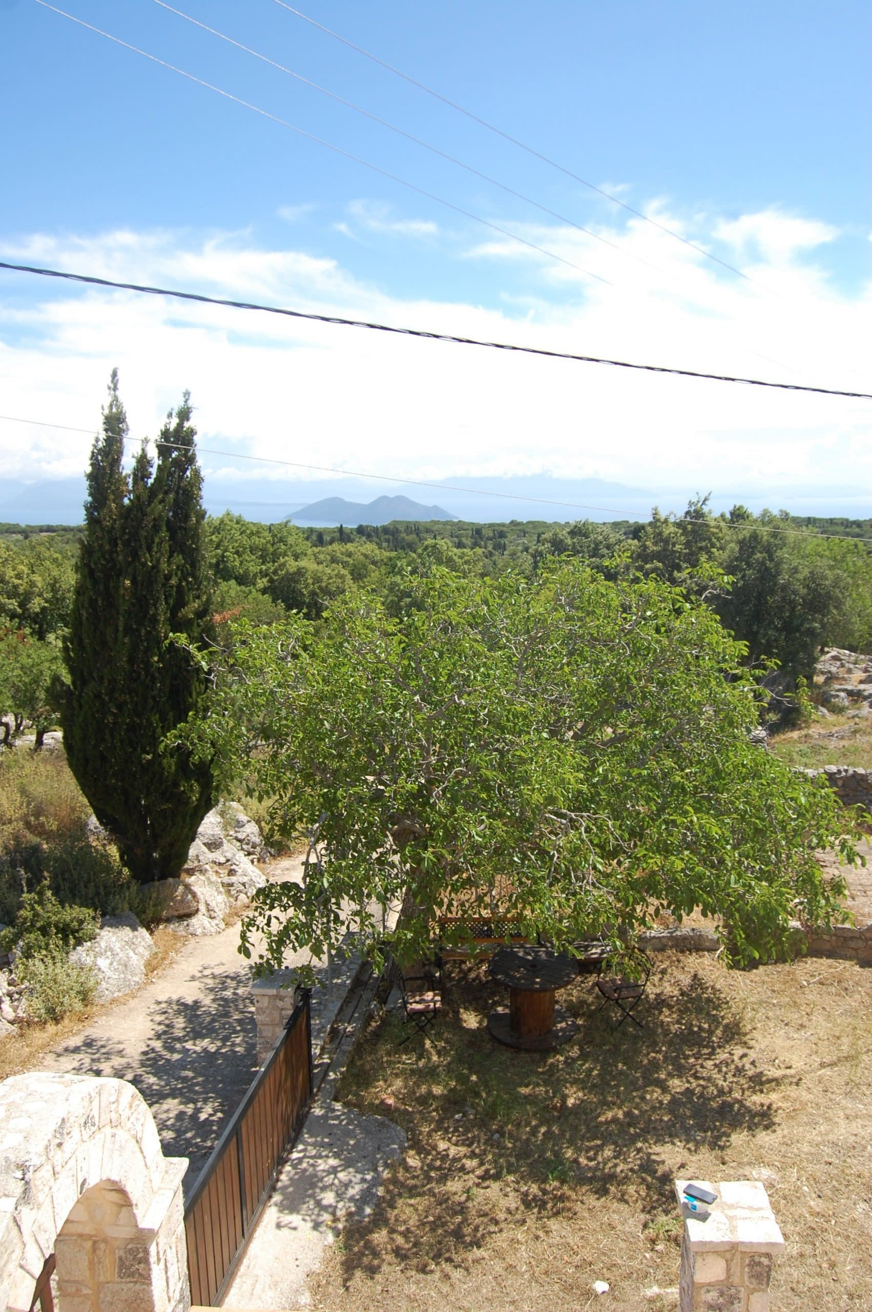 landscape of stone house for rent Ithaca Greece