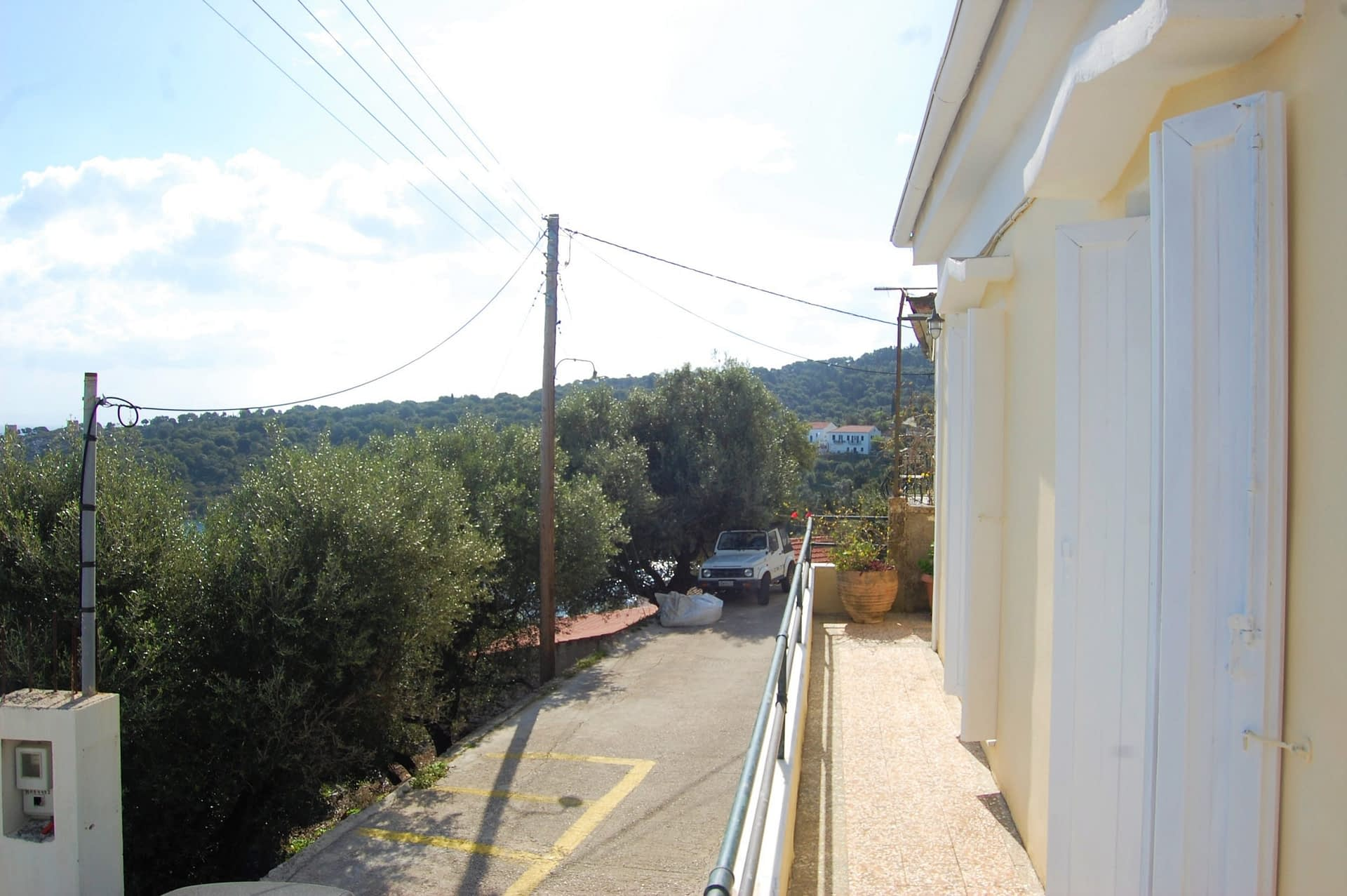 Balcony of house to rent in Ithaca Greece, Kioni