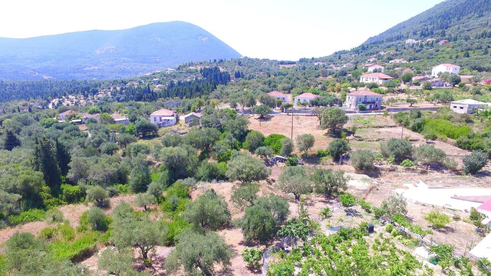 Aerial view from property for sale in Ithaca Greece Platrithya