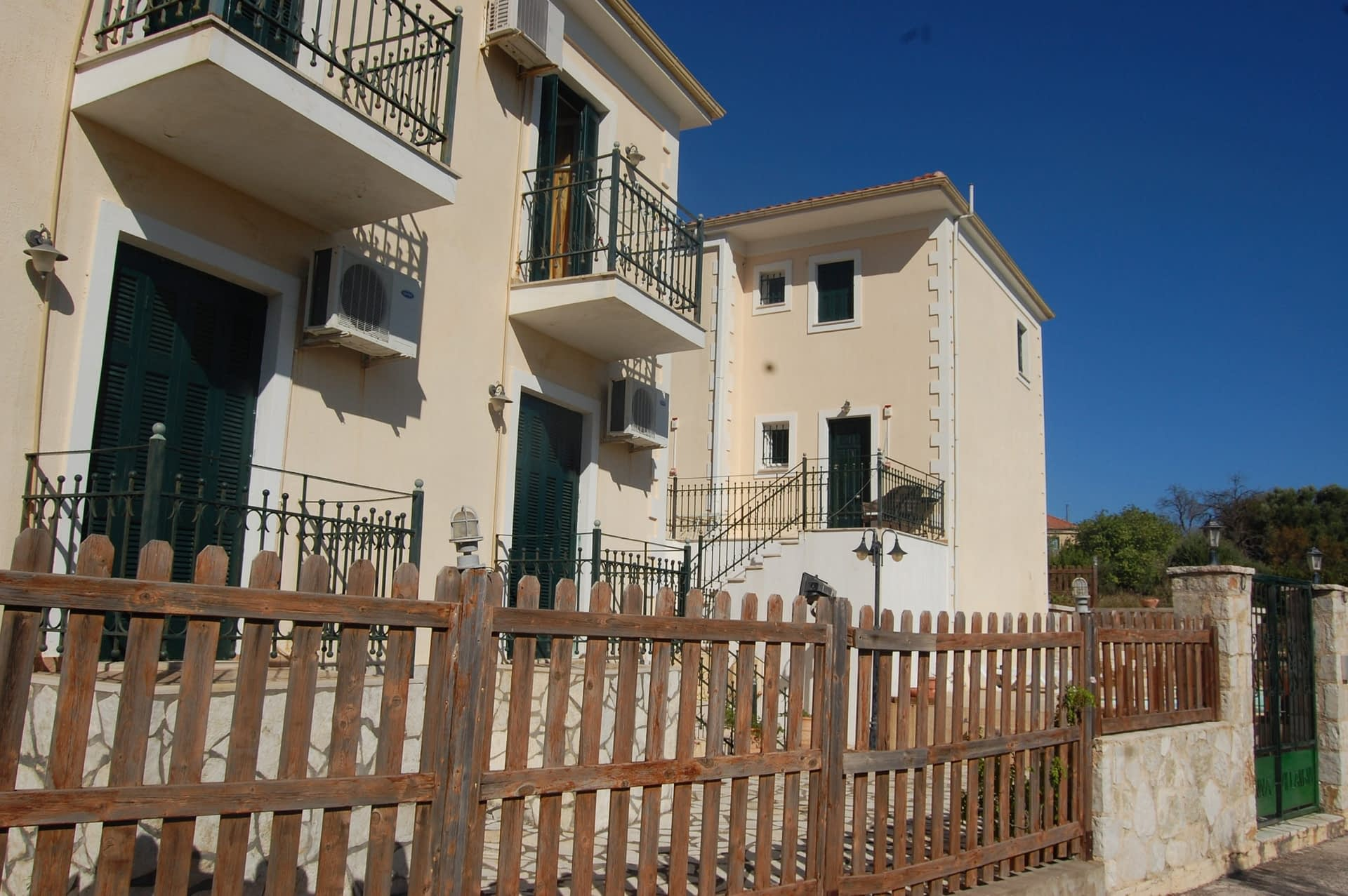 Exterior facade of Iriana Village for rent in Ithaca Greece, Stavros