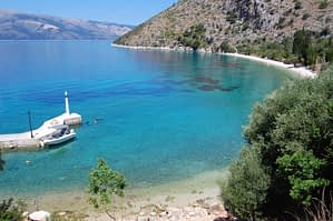 Beach next to house for sale on Ithaca Greece, Piso Aetos