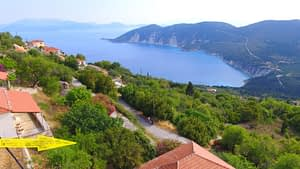 Aerial view of land for sale on Ithaca Greece, Exoghi