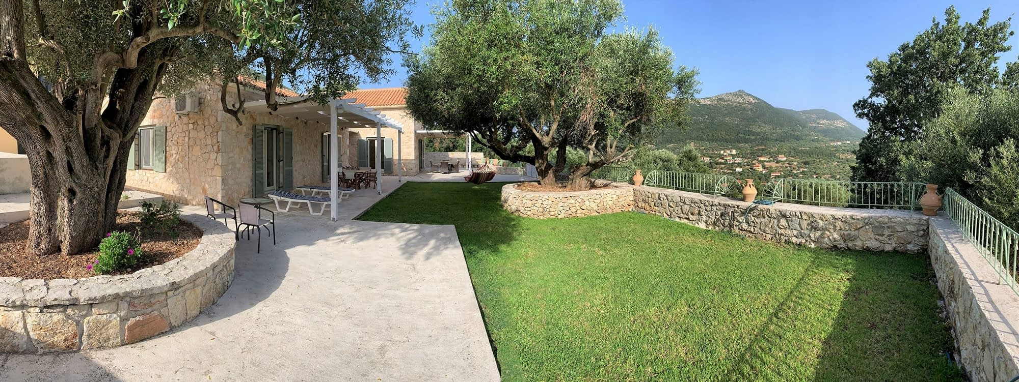 Outdoor area in villa for rent Ithaca Greece, Stavros