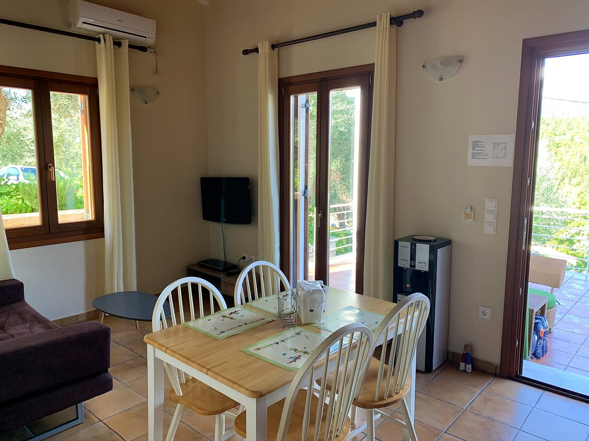 Interior livingroom of holiday house for rent in Ithaca Greece, Frikes
