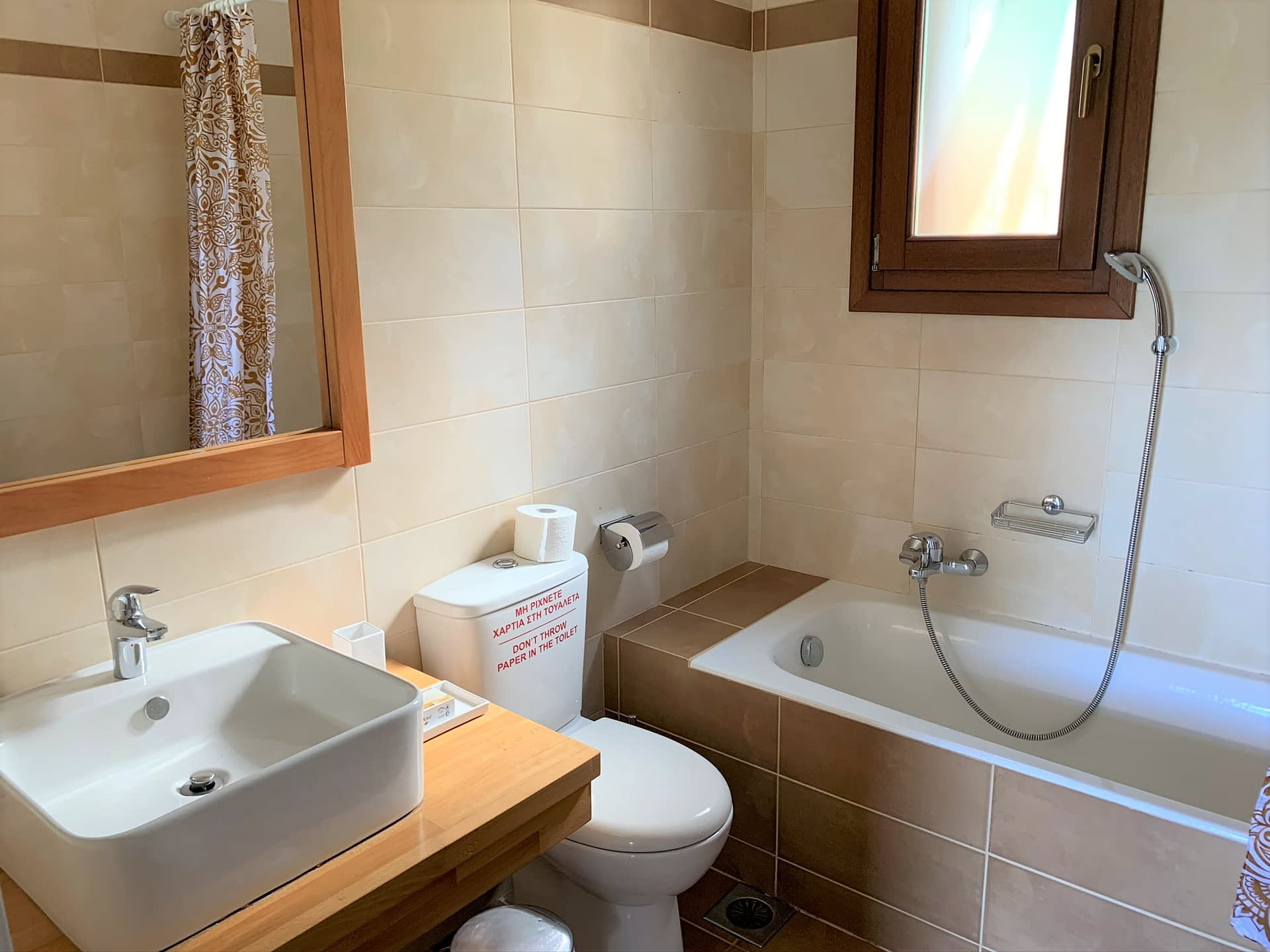 Interior bathroom of holiday house for rent in Ithaca Greece, Frikes