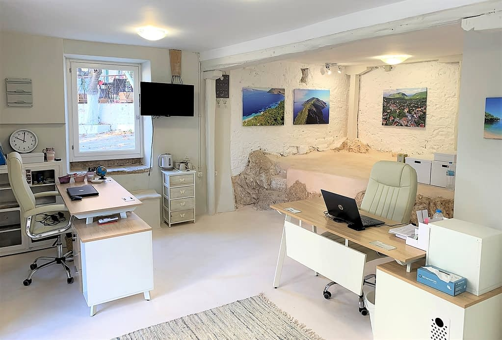 Office of MV Properties in Stavros, Ithaca Greece