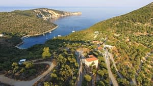 Aerial views of land for sale Ithaca Greece,Vathi