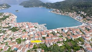 Aerial view of house for sale in Ithaca Greece Vathi