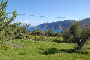 Sea view from land for sale in Ithaca Greece, Kolleri