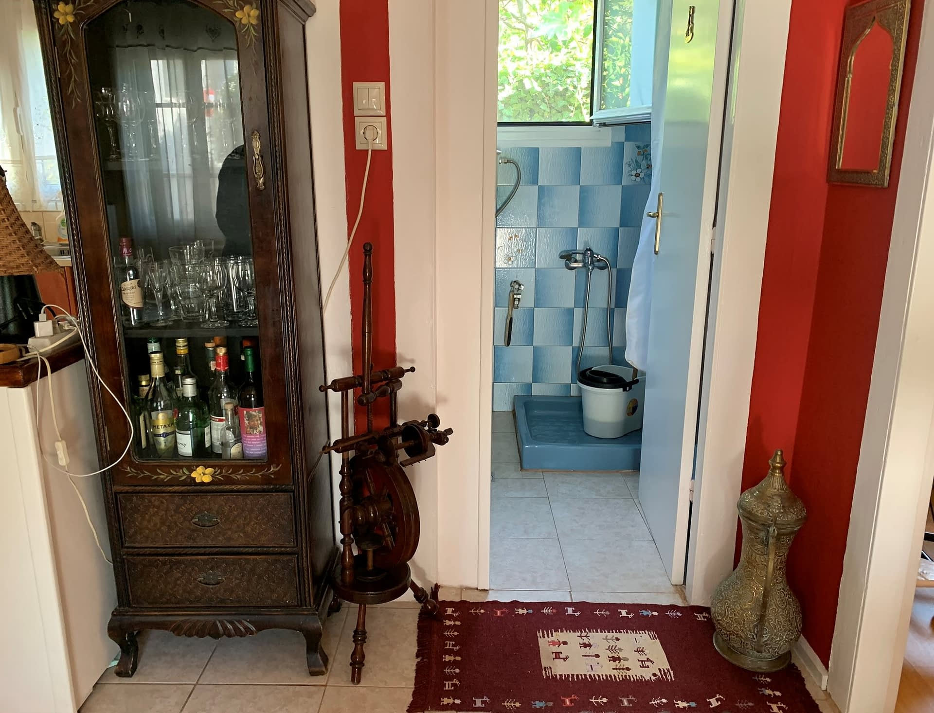 Interior of house for sale on Ithaca Greece, Kioni