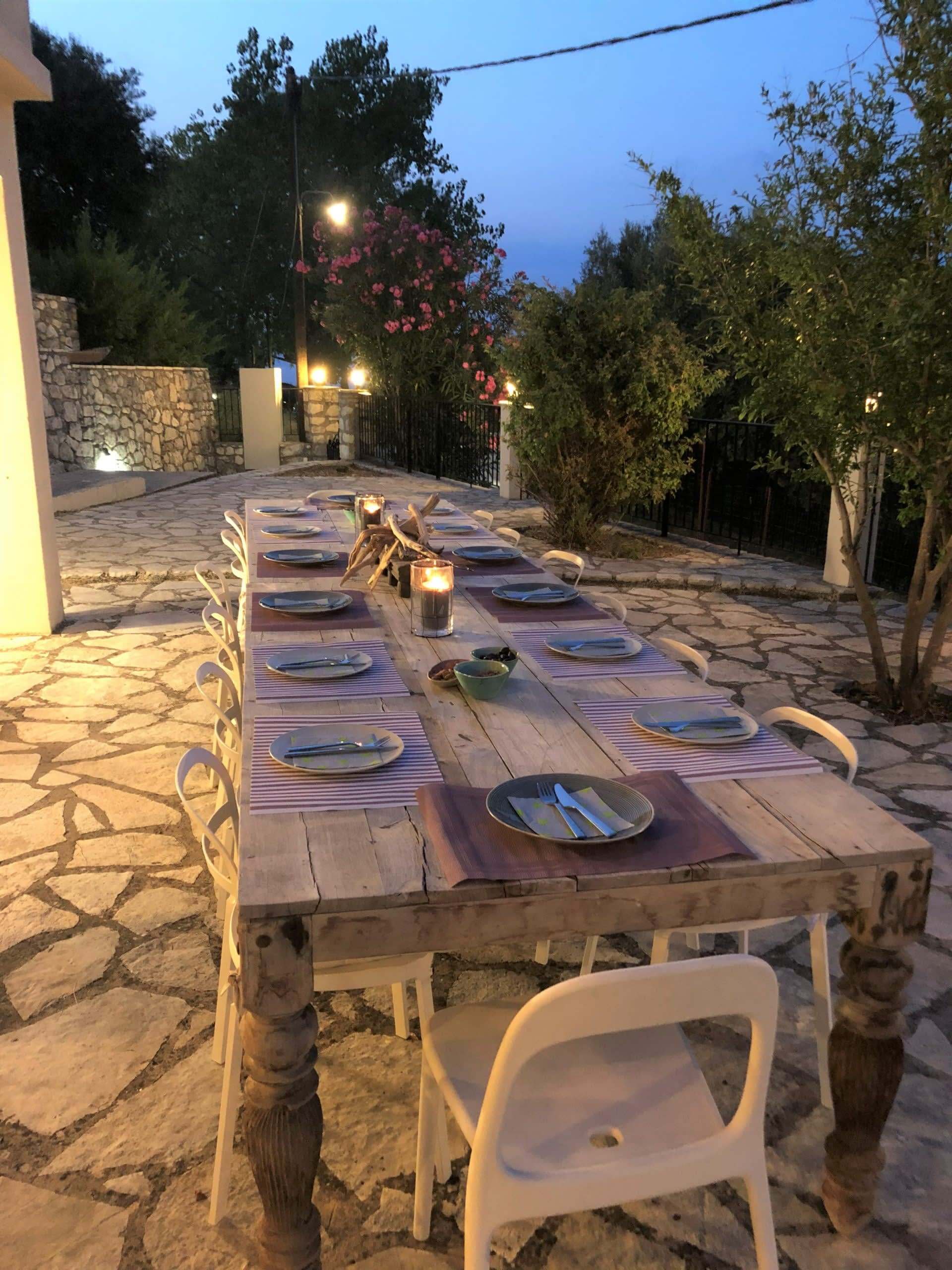 Outdoor terrace area of house for rent in Ithaca Greece, Kolleri