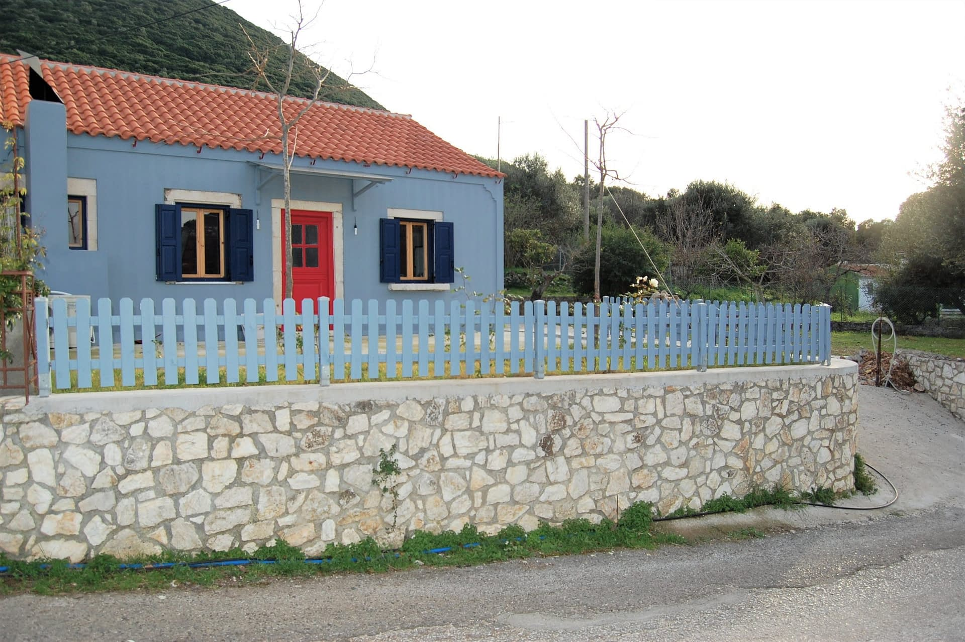 Exterior view of house for sale on Ithaca Greece