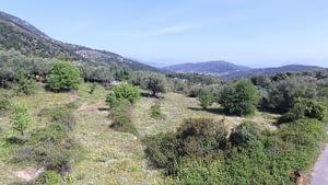 Landscape of land for sale on Ithaca Greece, Vathi
