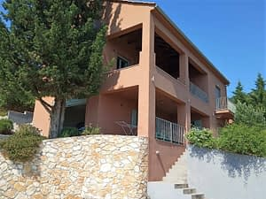 Exterior facade of house for sale in Ithaca Greece Perachori