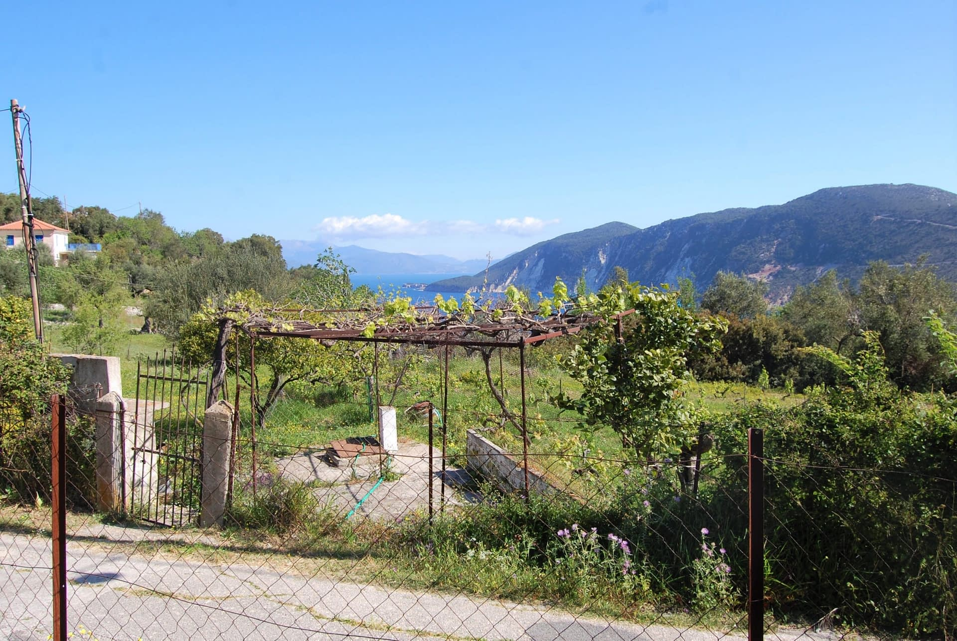 Road access of land for sale in Ithaca Greece, Kolleri