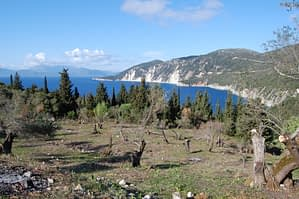 Landscape terrain of land for sale Ithaca Greece Afales