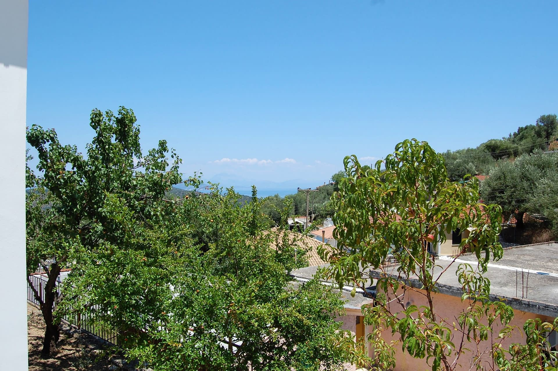 View from rental property in Perachori Ithaca Greece