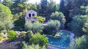 Aerial view of villa for rent Ithaca Greece, Vathi