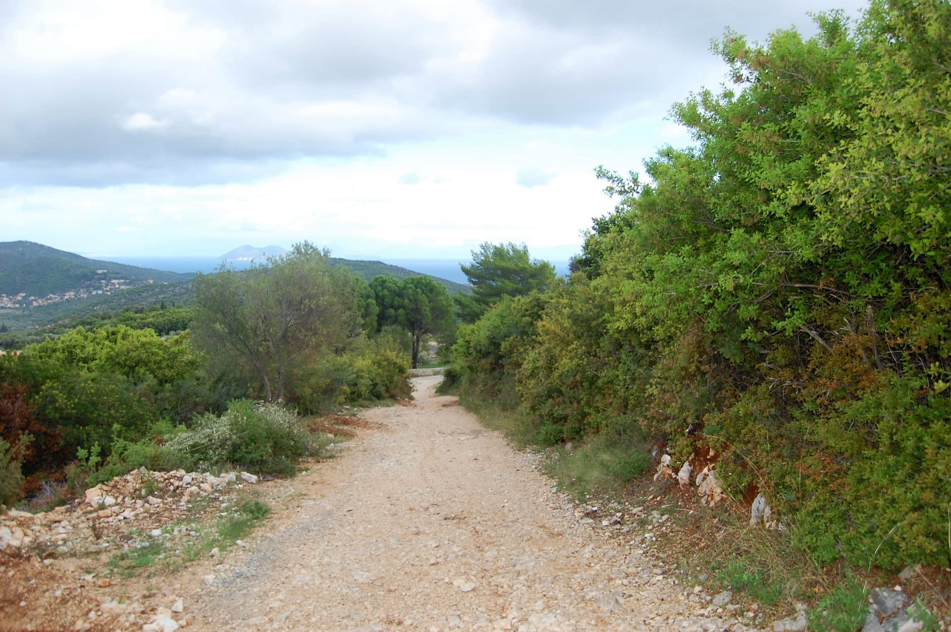 Terrain of landscape of land for sale Ithaca Greece Perachori