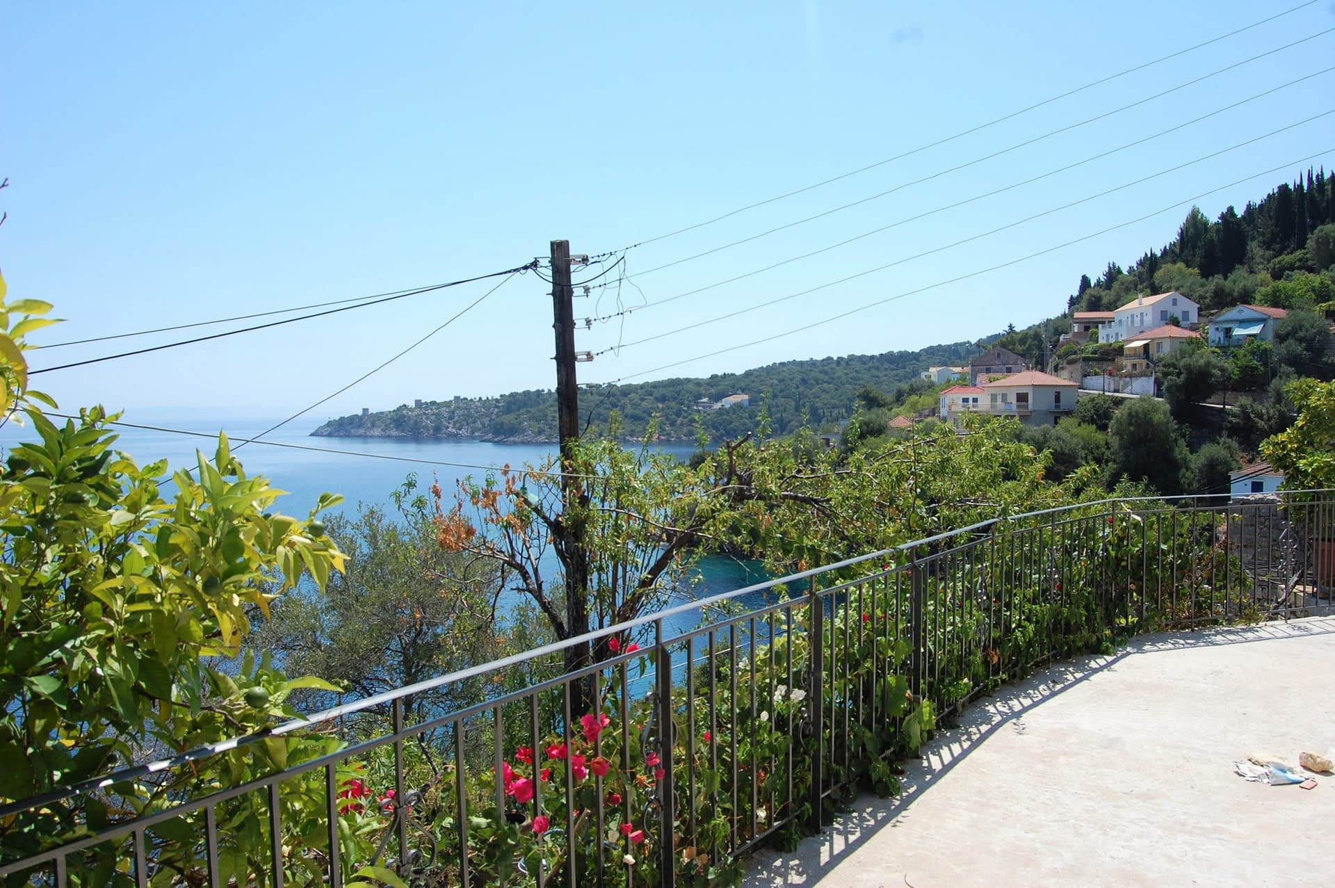 Sea view from a rental property in Kioni Ithaca Greece