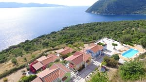 Aerial view of property for sale on Ithaca Greece, Stavros