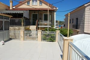 Spacious patio of house for sale in Ithaca Greece, Vathi