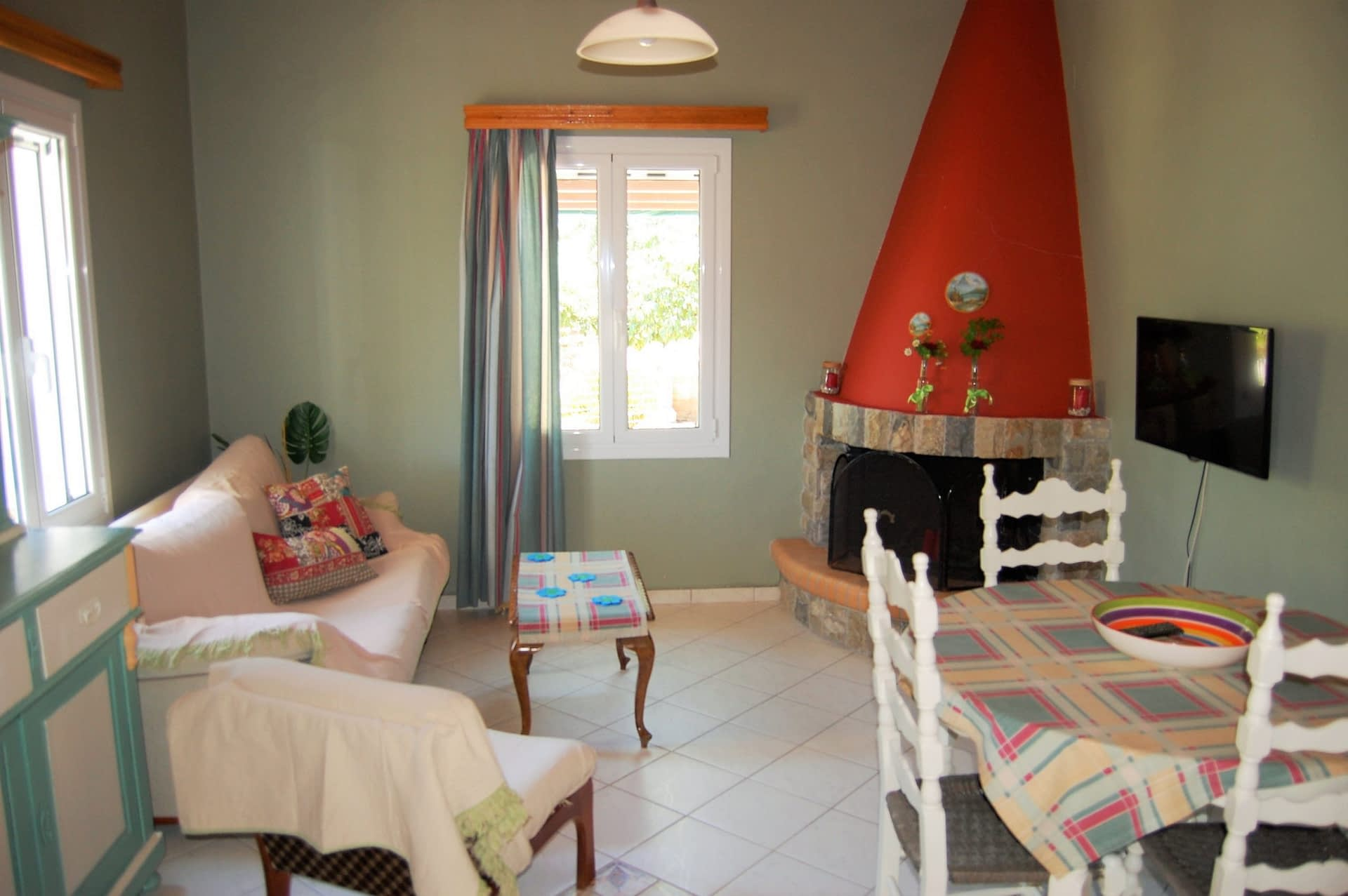 Interior space of rental property in Perachori Ithaca Greece