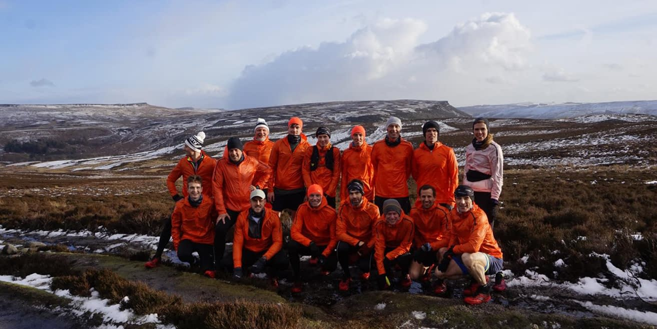 Saucony and Brandnation trail running experiential event in the Peak District